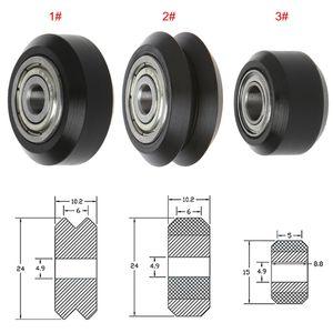 3D-Drucker-Teile Zubehör POM Kunststoff Rad mit 625zz MR105zz Umlenkrolle Getriebe Passive Perlin Rad V-Schlitz für 3D-Drucker
