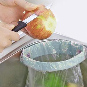 Support de poubelle pour évier de cuisine Porte-poubelle à ventouse solide Support de rangement pour poubelle de cuisine