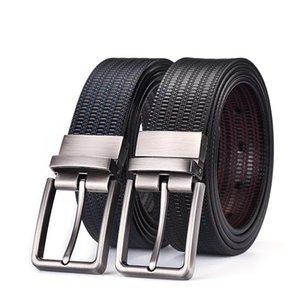 """Cinturón de vestir de cuero para hombres Reversible Hebilla de 1.5 """"de ancho, de moda, diseño simple, cinturones de cuero de alta calidad para empresas"""