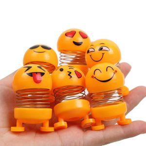 Tiktok Tik Tok Sonic Boom Mini Set cabeza de la sacudida cara sonriente del resorte de la muñeca Muñeca Mini Primavera Man Vehículo Adornos ventas al por mayor