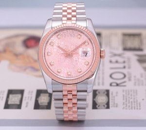 High-quality Asian watch 116231 2813 sports automatic mechanical ladies watch 36mm dial 18k rose gold stainless steel strap diamond watch