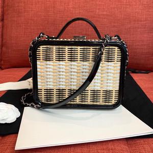 Bolsas Bolsas Carteiras Mobile Phone Bag moda de alta qualidade arte Bamboo Carta Mulheres Weaving Cadeia Crossbody Bag Tronco frete grátis