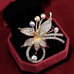 Элегантный Павлин бабочки Rhinestone Брошь Pin Leopard Music Note Сымитированный Pearl Мода броши Цветок Корона Брошь подарков
