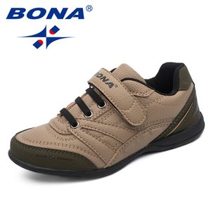 Bona New Classics Style Bambini Scarpe Casual Hook Loop Ragazzi Scarpe Outdoor Walking Jooging Sneakers Confortevole Spedizione gratuita Y190525