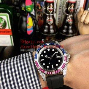4 модели Горячей мужские часы 40 мм 116610 116619 116613 116610LV Алмазной граница Даты Азия 2813 Механической Автоматическая Резинки ремень мужских