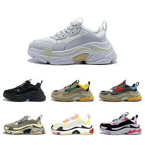 New Triple S Designer Casual Shoes Paris 17FW Low Old Dad Sneaker Combination Soles Boots Mens Womens Fashion High Top Quality Size 36-45