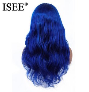 2020 New Malaysian Remy Blue Body Wave Lace Front Wig With Baby Hair 150%Density Pink ISEE HAIR Wig 613 Blonde Lace Front Human Hair Wigs