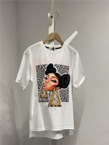 2020 marque de luxe Fend Designer T-shirt en coton T-shirt lettres du coffre Tshirt Femmes Imprimer Sweat-shirt Streetwear Casual 3,14