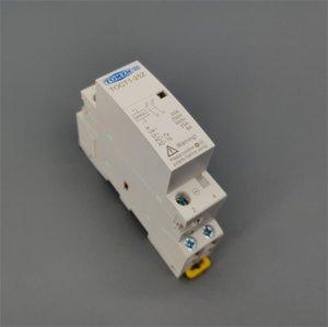 Контакторы TOCT1 2P 25A DC 12 24 катушка 220V / 230V 50/60 Гц Din-рейка бытовой ac модульный контактор 2NO