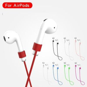 Airpod earbuds cinta de proteção anti-lost cable para airpods fone de ouvido acessórios de armazenamento linha de silicone neckband corda para iphone airpods