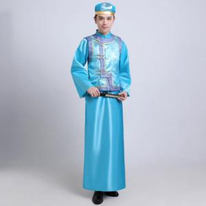Çin Geleneksel erkekler Kostüm Antik Prens Cosplay giysi Qing Hanedanı bornoz erkek Etnik Giyim cheongsam Halk Giysileri