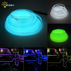 3V 5V 12V EL Wire with Sewing Edge Led Car Decor Strip Light Party Car Wire Light Neon LED Strips Flexible Light Rope Tube