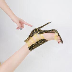 Pretty2019 Hollow Snake Rome Out Прозрачные Прекрасные Женские Сандалии с Носками 630-11