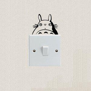 Totoro Cartoon Cat Decoration Switch Stickers Lovely Classic Animal Vinyl Wall Sticker