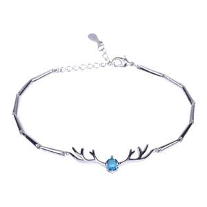 Ein Hirsch hat dein Armband Kleines Geweih Damen Persönlichkeit Einfache Student Freundinnen Paare Schmuck Geschenk für Frauen
