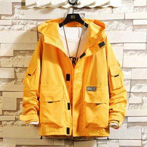 BQODQO 2019 Куртка Для Мужчин Куртки Причинные Японская мужская одежда Мода Хип-Хоп Спортивный Костюм Мода мужская Удобная Свободная