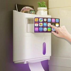 UV HAPPER Uv Sterializing Toolet Paper Storage Box Hygienic Paper Dispenser Bathroom Storage T200425