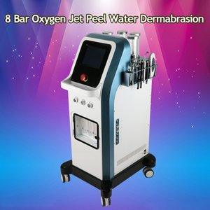 Dermabrasión de agua con cáscara de chorro de oxígeno de 8 bares Tecnología Lsrael 7 en 1 Hidra Microcorriente Facial Hidradermabrasión Inyector de Oxgen Máquina para spa