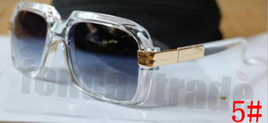 10 UNIDS Gafas de sol para hombre mujer Diseñador de Moda tonos cuadrados Vintage Gafas de Sol Gafas de Sol Marco Vintage Tonos Metal Eyewear marco transparente