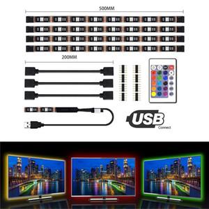5050 DC 5 V RGB Tira CONDUZIDA À Prova D 'Água 60LED / M USB LED Tiras de Luz Flexível Neon Tape 4 * 50 cm adicionar Remoto Para TV fundo