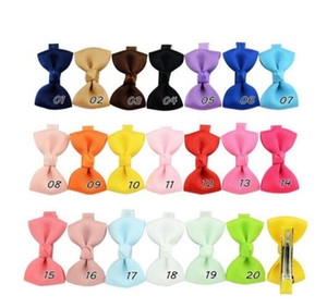 Small Bowknot Hairgrips Mini Sweet Lively Solid Ribbow Bow Safety Hair Clips Kids Hairpins HD659