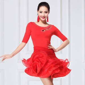 Adulto Novo Estilo Dança da mola Costume Metade-Luva de dança D0828 Lady Latin vestido de mulher vestido Ir Leotards Latina