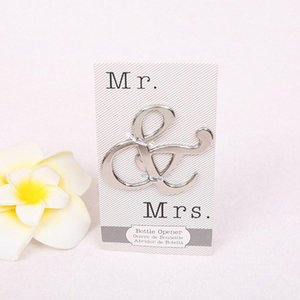 Creative Mr and Mrs Ampersand Bottle Openers Favor For Party Supplies Wedding Gift For Guest beer Bottle Opener T2I5710