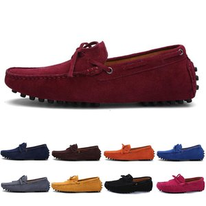 2020 Designer luxury Espadrilles men women casual shoes black loafers flat suede slip on fashion mens trainers sneakers size 39-46 color15