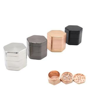 58 * 50mm 4 Capas Hexágono Hexágono Tabaco Molinillos Molinillos metal de aleación de zinc Tabaco Grinder accesorios de fumar CCA11305 A-10pcs