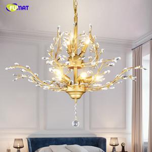 FUMAT Modern Luster Led Kristal Avize Aydınlatma Tavan Avizeler Işık Lamparas De Techo Hanglamp Süspansiyon Armatür Lampen