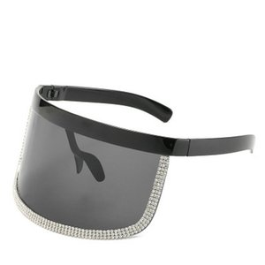 Crystal oversized shield visor sunglass ALOZ MICC Women Oversize Shield Visor Sunglasses Women Retro Windproof Glasses Men Shield Visor Ib3K