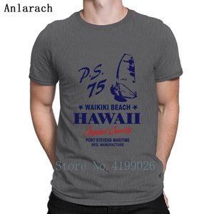 Waikiki Beach Hawaii Windsurfing T Shirt Letters Printing Super Mens Tee Shirts Plus Size Anti-Wrinkle Top Tee Summer Style