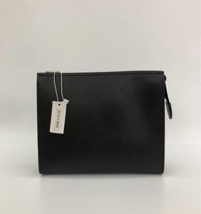 Nuova borsa da toilette da viaggio 26 cm frizione trucco protettivo da donna in vera pelle impermeabile 19 cm borse cosmetiche per le donne + sacchetto per la polvere