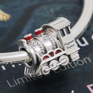 Autentica reale 925 fascini sterlina d'argento europei perline PANDORA NecklaceBracelets modo di DIY monili 10pcs / lot Liberi la nave