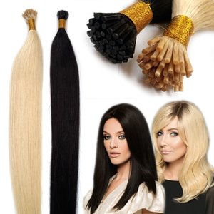 Pre Bonded I TIP Human Hair Extensions Fusion Stick Tip Hairpieces Invisible Seamless Keratin Glue in Hair Extensions 50 Strands Pack 1G S