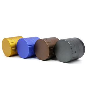 Novo estilo de 4 peças moedor de alumínio 63 milímetros Singal em forma de dentes de tipo barra chanfragem erva Moinho de 2,5 polegadas de 8812