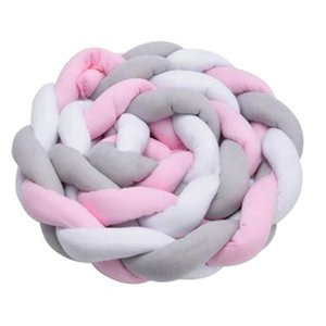 Tre-Color Twist tessuta nodo lungo annodata della decorazione della stanza Cuscino Culla assicurazione cuscino laterale