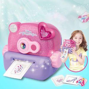 만화 매직 DIY 어린이 스티커 기계, 소녀 즐겨 찾기, 귀여운 미니 크리 에이 티브 3D 프린터, 발달 장난감, 크리스마스 아이 생일 선물