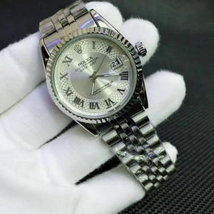 2020 Bianco 38 millimetri Quadrante di lusso delle donne degli uomini di marca del quarzo della vigilanza Tutto acciaio impermeabile Roma Fashion Dress Bezel orologio Montre de luxe