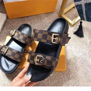 Lòuis Vuítton women slippers summer sexy cross bandage female flat high Heels Leather bottom ladies sandals