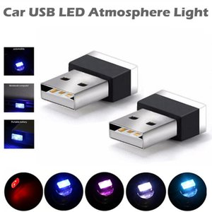 Plug and Play Fashion Romantic Soft Brightness Auto Car USB LED Atmosphere Lamp Mood Light Automobile Interior Decorative Bulb