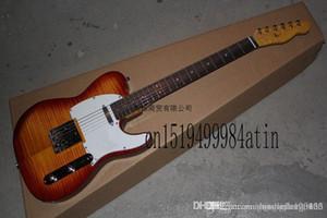 hgfrt Verschiffen frei Flamme Ahornhals Instrument Geschäfts-kundenspezifische Echt Foto Ameican Sandard VOS Sunburst TL E-Gitarre