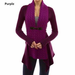 Maglione Knit All'ingrosso-signore Verde Nero donne maglione invernale vestiti di autunno rosa Cardigan caduta maglioni per le donne del cappotto coreano Top 2019