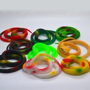 Реалистичная змея игрушки TPR Супер Эластичный Змея Фигура Keep Away Птицы Ванна Сад Rainforest Squishy Reptile Поддельный Snake игрушка