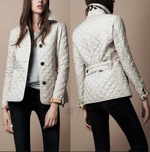 Классическая мода зима Женщины ветровки пальто Длинные рукава Solid Color Сжатые вскользь понижающего хлопка куртки Верхняя одежда M ~ 4XL