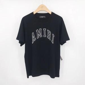 2020 Летней нового фьюжн мужского письмо печати футболка ~ США Размер ~ Футболки мужской новый дизайнера короткого рукав рубашка
