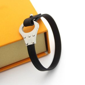 Simple Buckle Black Leather man's bracelet foreign trade large men's and women's Leather Bracelet