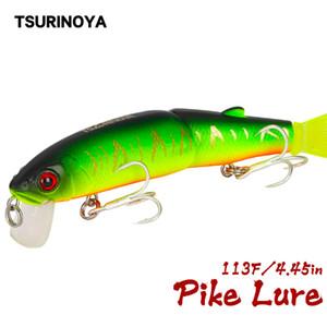 Cheap s TSURINOYA Multi Segment Fishing Lure Floating Minnow DW42 113mm 13g Depth 1.8m Hard Fishing Lure Two Sections Jointed Fish Lure