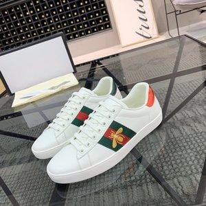 Neue Männer und lässig Kalbsleder Seidenstickerei paar kleine weißen Schuhe, Sportschuh Luxus-Designer-Bienen Schuhe Mode Frauen