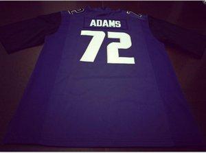 Donna-Uomo della gioventù # 72 Trey Adams Washingtonn Huskies del calcio Jersey formato s-5XL o personalizzato qualsiasi nome o numero di maglia